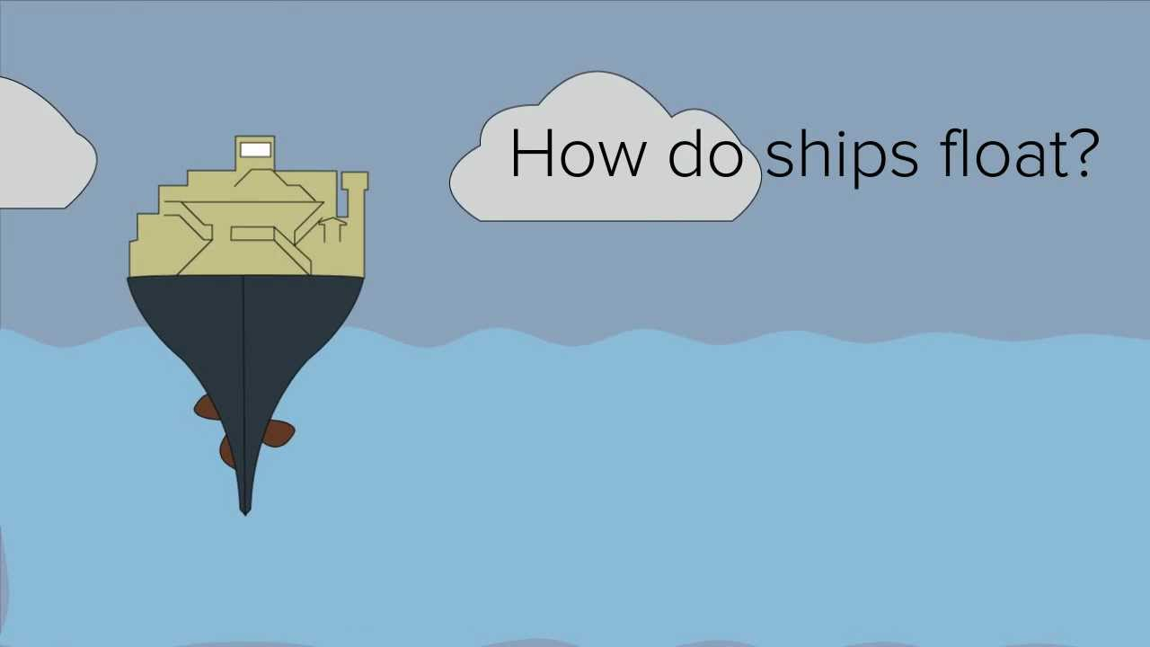 How do ships float being so heavy and made of metal?