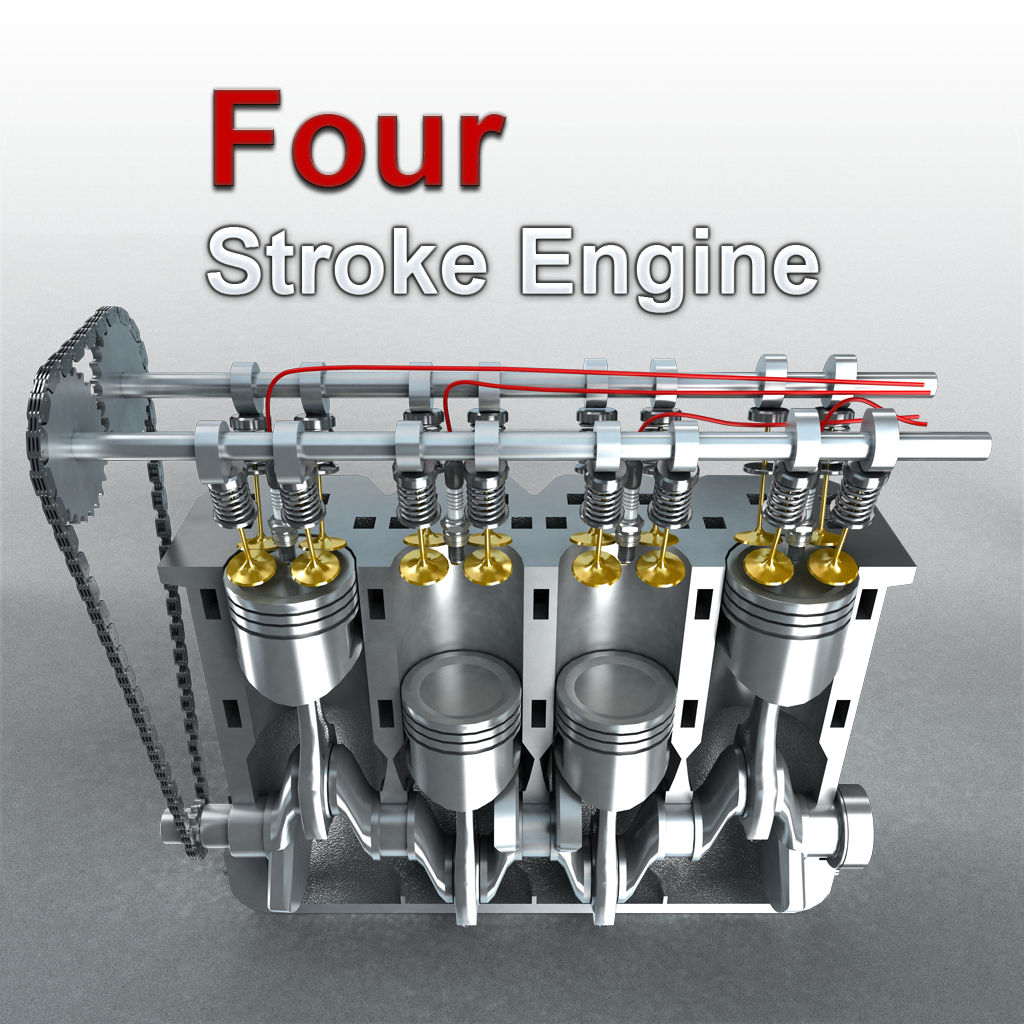 Working of 4 stroke engine with animation