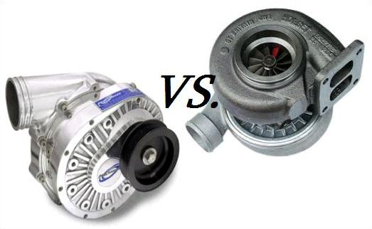 Differences between supercharger vs turbocharger.