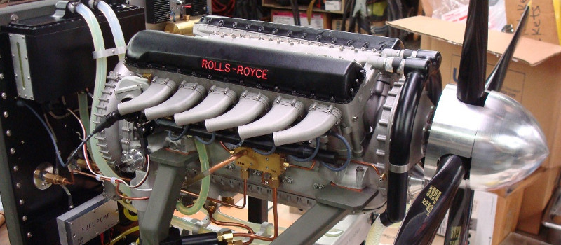 modern Rolls Royce Merlin engine